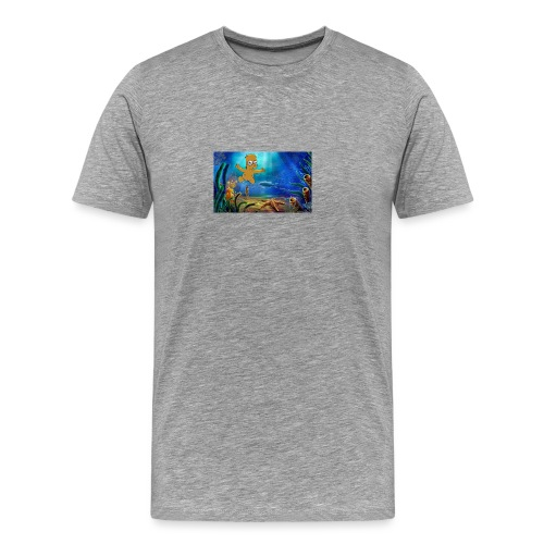 Bart Simpson Posing as the nirvana Boi - Men's Premium T-Shirt