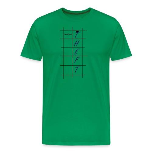Taxation is Theft Crossword - Men's Premium T-Shirt