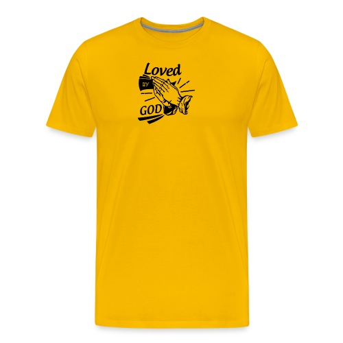 Loved By God (Black Letters) - Men's Premium T-Shirt