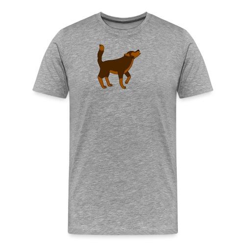 KR ASMR Howling Wolf - Men's Premium T-Shirt