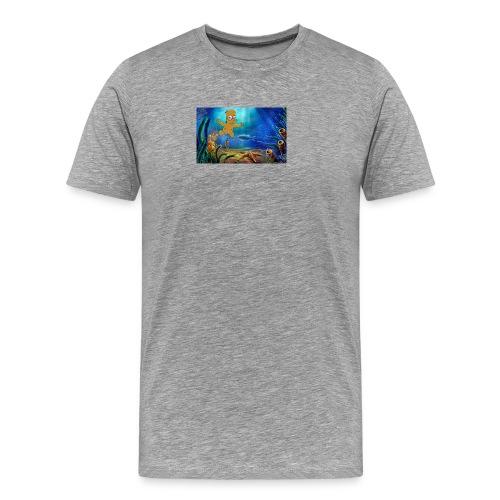Bart Simpson Posing as the nirvana Boi - Men's Premium T-Shirt