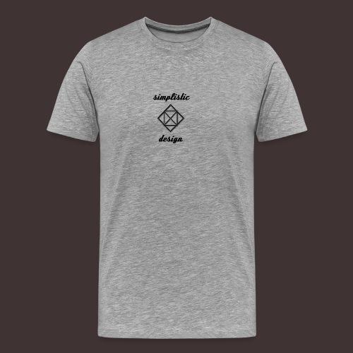 Simplistic Design Logo With Text - Men's Premium T-Shirt