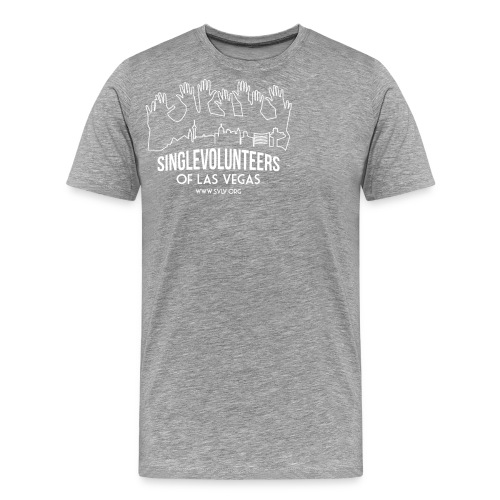 White logo SVLV - Men's Premium T-Shirt