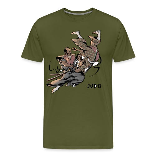 Judo Design Uki Otoshi Throw - Men's Premium T-Shirt