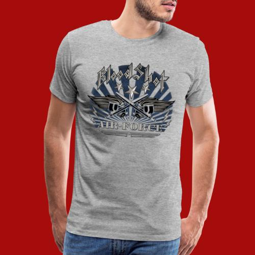 BloodShot Air Force with black - Men's Premium T-Shirt