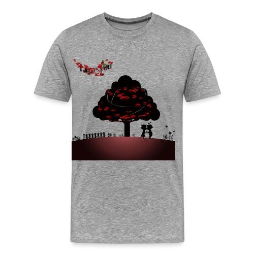 true love happy valentine's day - Men's Premium T-Shirt