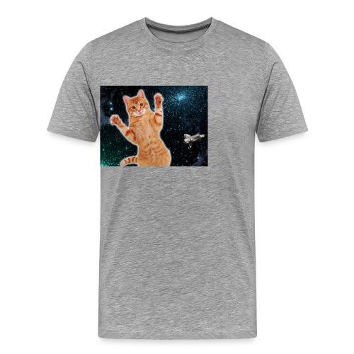 Cat in Deep Space - Men's Premium T-Shirt