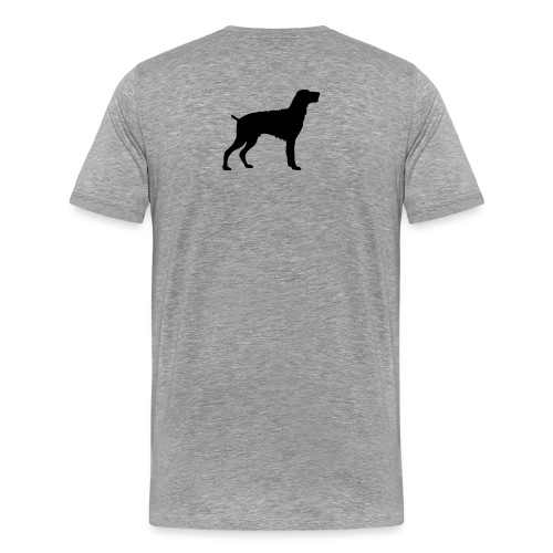 German Wirehaired Pointer - Men's Premium T-Shirt