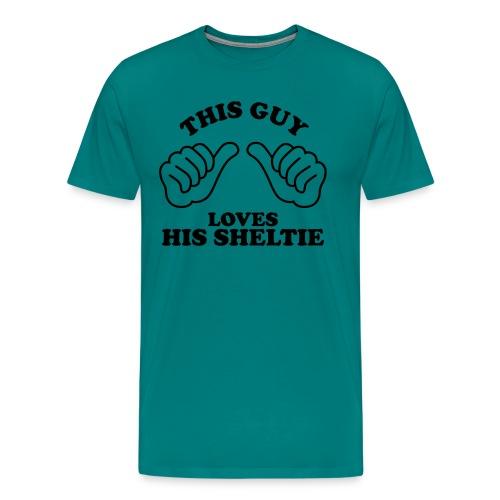 Two Thumbs Guy Sheltie - Men's Premium T-Shirt