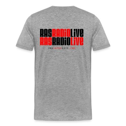 rasradiolive logo fixed png - Men's Premium T-Shirt