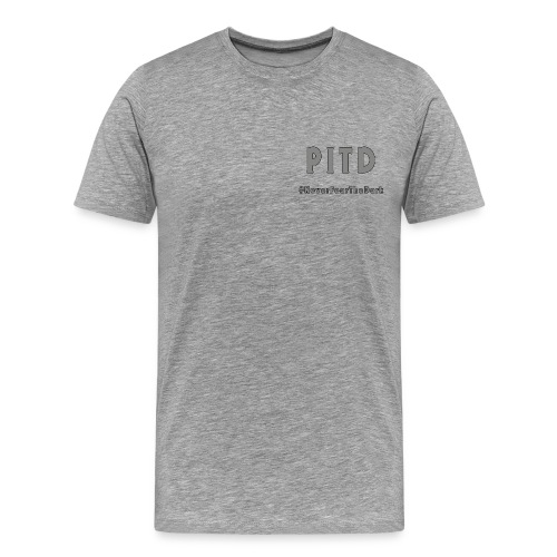 Patriot In The Dark G2 Logo & Hashtag - Men's Premium T-Shirt