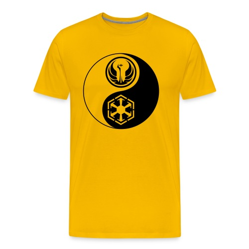 Star Wars SWTOR Yin Yang 1-Color Dark - Men's Premium T-Shirt