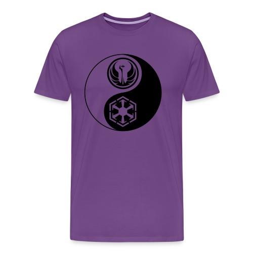 Star Wars SWTOR Yin Yang 1-Color Dark - Men's Premium T-Shirt