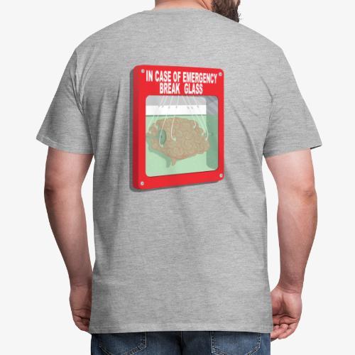 In case of emergency. Break glass and take a brain - Men's Premium T-Shirt
