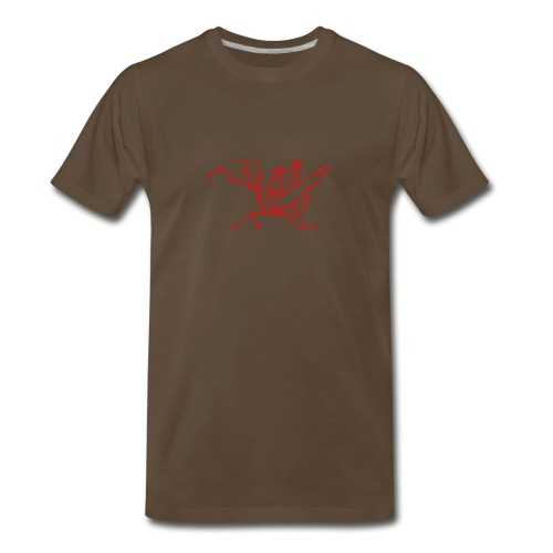 kung-fu-front-Josh - Men's Premium T-Shirt