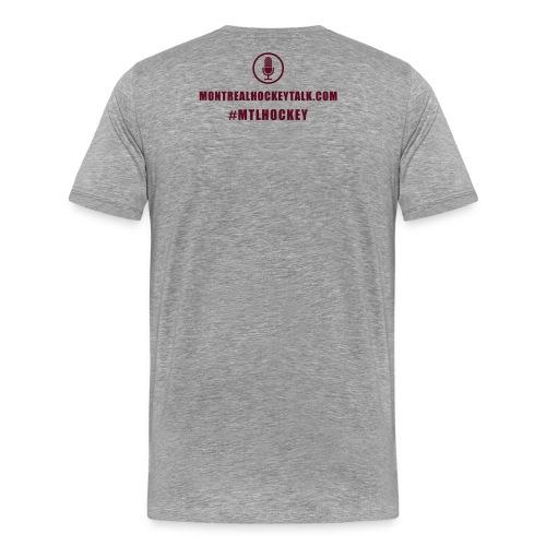 MTL Hockey Back White - Men's Premium T-Shirt