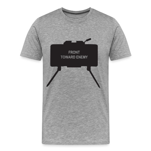Claymore Mine (Minimalist/Dark) - Men's Premium T-Shirt