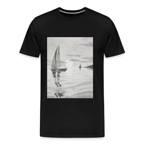 Boat At Sea - Men's Premium T-Shirt