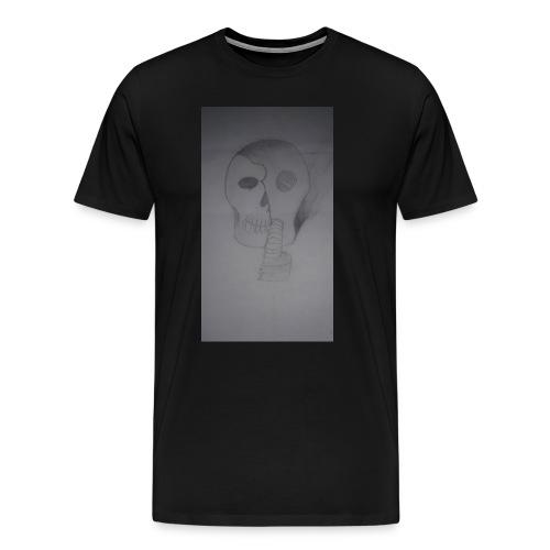jaythekiller24 burn mask - Men's Premium T-Shirt