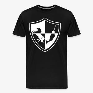 Unicorn & Narwhal Sheild - Men's Premium T-Shirt