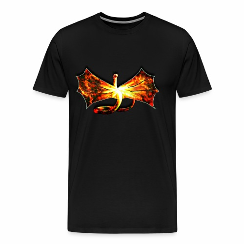 Flaming winged Serpent - Men's Premium T-Shirt