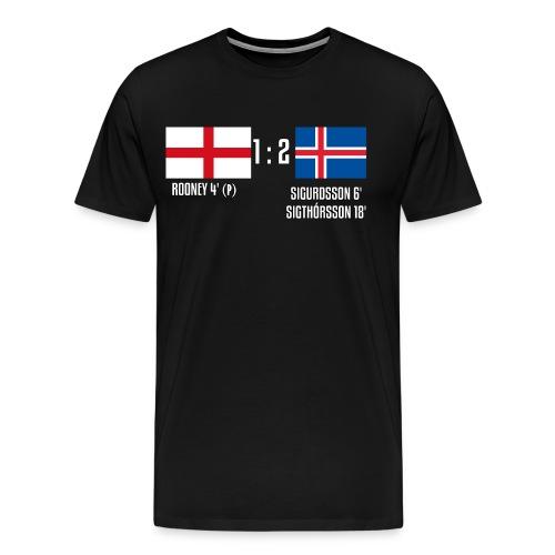 England 1-2 Iceland - Men's Premium T-Shirt