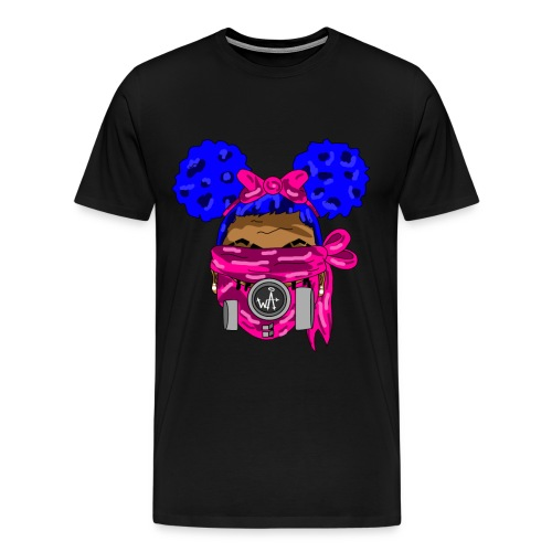 Blue Top - Pink Maks - Men's Premium T-Shirt