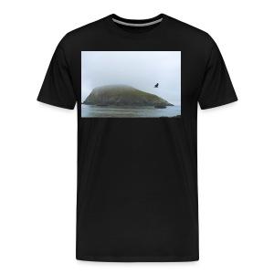 bird and rock - Men's Premium T-Shirt