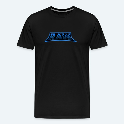raw blue - Men's Premium T-Shirt