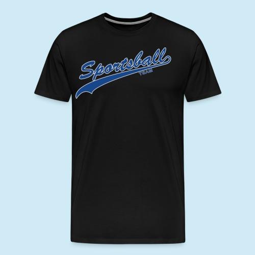 Sportsball (Blue & Silver) - Men's Premium T-Shirt