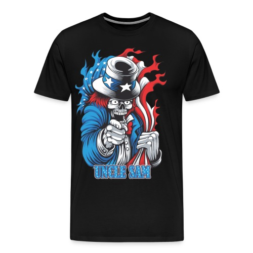 Uncle sam's joker skull - Men's Premium T-Shirt