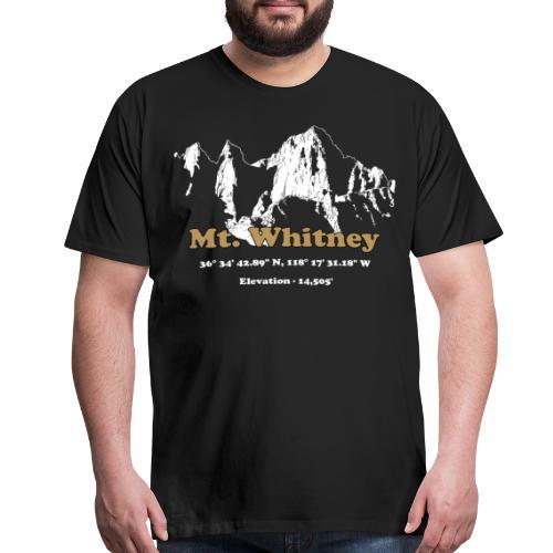 MT Whitney Gold - Men's Premium T-Shirt
