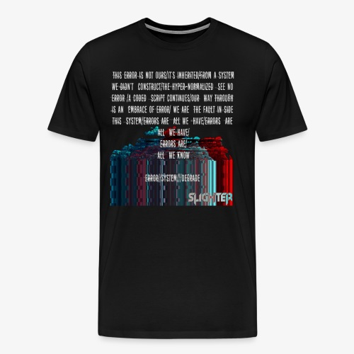 ERROR Lyrics - Men's Premium T-Shirt