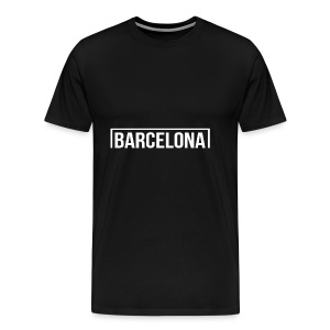 Goal Barcelona White - Men's Premium T-Shirt