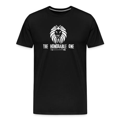 Lion: The Honorable One (White) - Men's Premium T-Shirt
