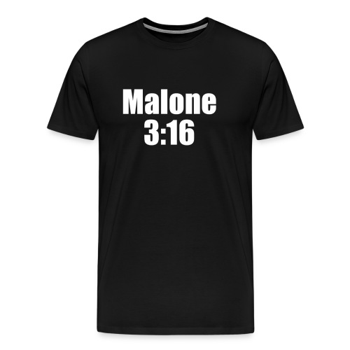 Post Malone parody logo - Men's Premium T-Shirt