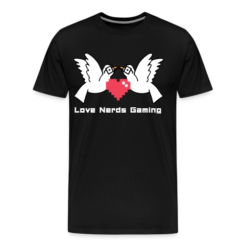 LNGLOGOWhiteWords - Men's Premium T-Shirt