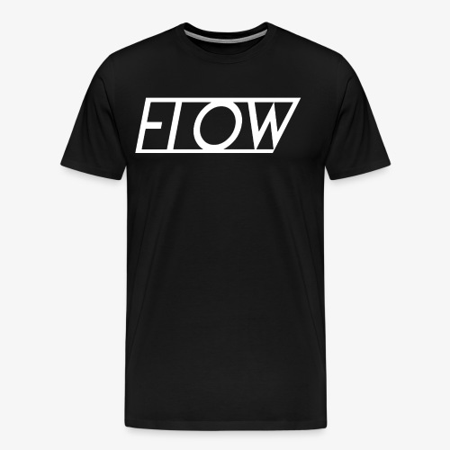 Classic White Flow Logo Tee - Men's Premium T-Shirt
