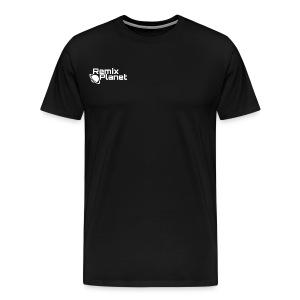 White RemixPlanet Logo T-shirt - Men's Premium T-Shirt