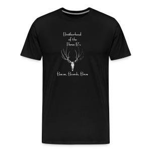 Brotherhood of the Three B's (Bacon, Beards, Brew) - Men's Premium T-Shirt