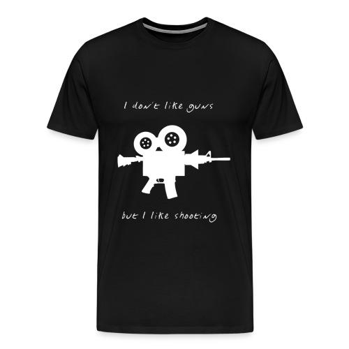 I don't like Guns collection #1 (white) - Men's Premium T-Shirt