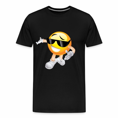 Cool Smiling Face with Sunglasses - Men's Premium T-Shirt