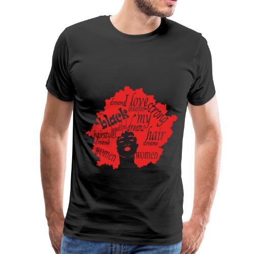 natural hair love afro womens Gift for black girls - Men's Premium T-Shirt