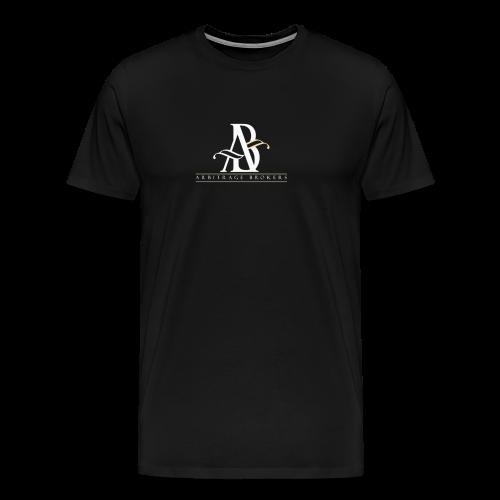 Arbitrage White Logo - Men's Premium T-Shirt