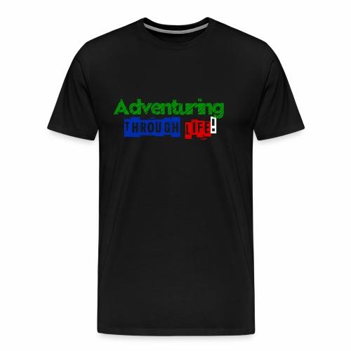 Adventuring through life text color - Men's Premium T-Shirt