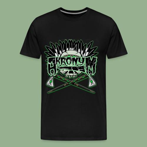 Akronym Skull and Logo - Men's Premium T-Shirt