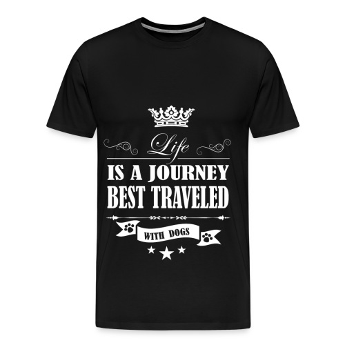 Journey life Best Traveled With Dog - Men's Premium T-Shirt