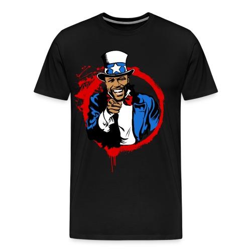 Floyd Mayweather Uncle Sam IRS Tax (Red Circle) - Men's Premium T-Shirt