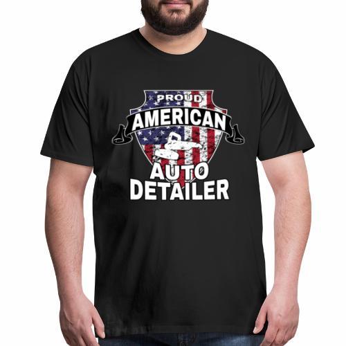 AMERICAN AUTO DETAILER SHIRT | CAR DETAILING - Men's Premium T-Shirt