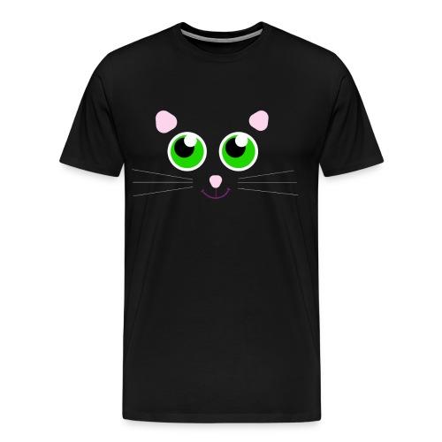 Black Cat Design - Cute For Halloween Costume - Men's Premium T-Shirt